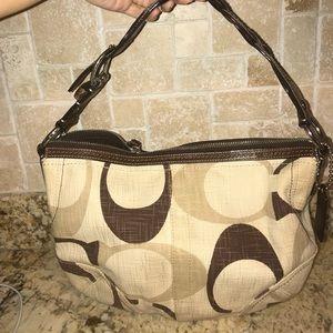 Canvas Coach hobo bag